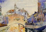 henri edmond cross venetian canal painting
