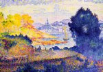 henri edmond cross view of menton posters