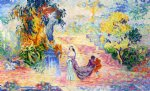 henri edmond cross woman in a park painting