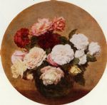 henri fantin latour a large bouquet of roses painting 77245