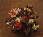 henri fantin latour bouquet of flowers pansies painting 77735