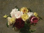 henri fantin latour bouquet of roses painting 32188