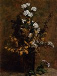 henri fantin latour broom and other spring flowers in a vase painting 32192