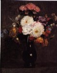 henri fantin latour dahlias queens daisies roses and corn flowers ii painting 32199