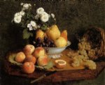 henri fantin latour flowers and fruit on a table painting 32219