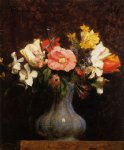 henri fantin latour flowers camelias and tulips painting 32213
