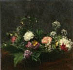 flower paintings - flowers ii by henri fantin latour