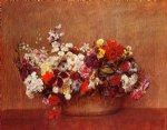 henri fantin latour flowers in a bowl painting 32222