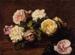 rose paintings - henri fantin latour flowers roses i by henri fantin-latour