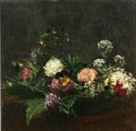 flower paintings - henri fantin latour flowers v by henri fantin-latour
