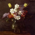 flower paintings - flowers by henri fantin latour