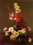 henri fantin latour gladiolas and roses painting 32229