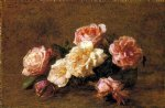 rose paintings - roses 12 by henri fantin latour
