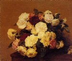 rose paintings - roses 13 by henri fantin latour