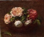 rose paintings - roses 14 by henri fantin latour