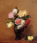 rose paintings - roses 17 by henri fantin latour
