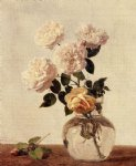rose paintings - roses 19 by henri fantin latour