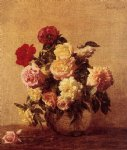 rose paintings - roses 2 by henri fantin latour