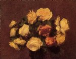 rose paintings - roses 4 by henri fantin latour