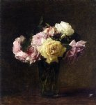 rose paintings - roses 6 by henri fantin latour