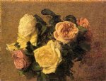 rose paintings - roses 7 by henri fantin latour
