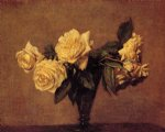 rose paintings - roses 8 by henri fantin latour