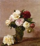 rose paintings - roses 9 by henri fantin latour
