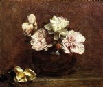 rose paintings - roses de nice by henri fantin latour