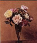 henri fantin latour roses in a vase ii painting 82153