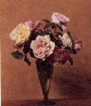 henri fantin latour roses in a vase iii painting 32277
