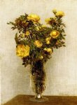 henri fantin latour roses lying on gold velvet painting 32281