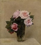 rose paintings - roses roses by henri fantin latour