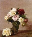rose paintings - henri fantin latour roses vi by henri fantin-latour
