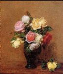 rose paintings - henri fantin latour roses vii by henri fantin-latour