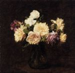 rose paintings - henri fantin latour roses xi by henri fantin-latour