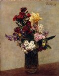 flower paintings - spring flowers by henri fantin latour