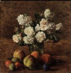 henri fantin latour still life roses and fruit paintings