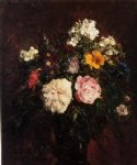 henri fantin latour still life with flowers painting 32349