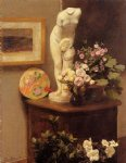 henri fantin latour still life with torso and flowers painting 32302