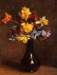 flower paintings - vase of flowers iii by henri fantin latour
