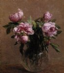 henri fantin latour paintings - vase of peonies ii by henri fantin latour