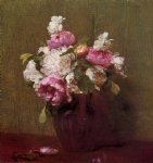 henri fantin latour white peonies and roses narcissus painting