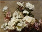 henri fantin latour white phlox summer chrysanthemum and larkspur art