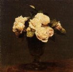 rose paintings - white roses iii by henri fantin latour