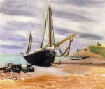 boats at etretat by henri matisse painting