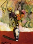 chrysanthemums in a chinese vase by henri matisse painting