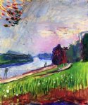 copse of the banks of the garonne by henri matisse painting