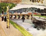 parade aux platanes by henri matisse painting