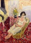 seated figure striped carpet by henri matisse paintings