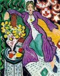 the purple coat by henri matisse painting